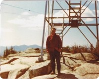 The last observer to man the tower, Doug Richards.