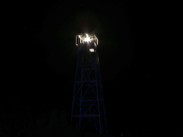 Hurricane Mountain Fire Tower Lighting