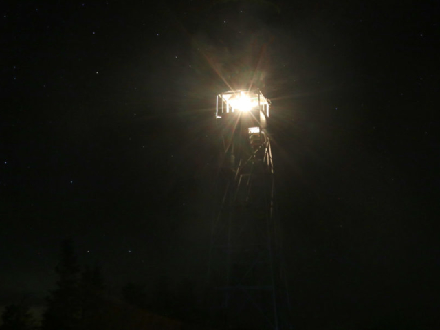 Hurricane Mountain Fire Tower Lighting 3