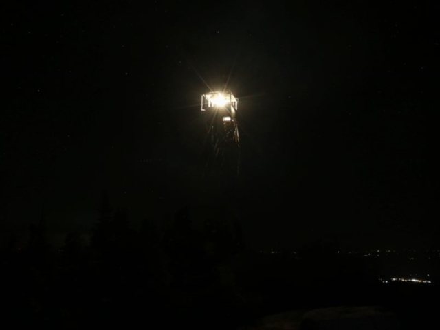 Hurricane Mountain Fire Tower Lighting 2